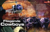 Wunderwelt Wissen magazine Germany, November 2008, on Helicopter Cowboys by David Hancock