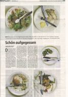 die tageszeitung Berlin, April 17/18, 2010 on Food Rests in an Italian Refectory by Simone Casetta