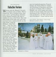 der spiegel no. 35 from August 24, 2009 on Reiner Riedler's book Fake Holidays