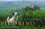 Geo Saison Extra Toskana, August 2011, about The Dog Pecorino in Tuscany by Toni Anzenberger