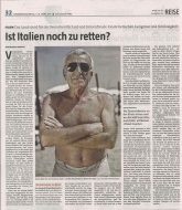 taz, Germany, March 5/6, 2011, about Bagnini of Rimini by Nicola Okin Frioli