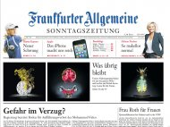 "Frankfurter Allgemeine Zeitung, September 23, 2012, about ""One Third"" by Klaus Pichler"